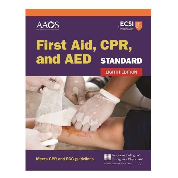 Standard First Aid, CPR and AED Book | Emergency Medical Training